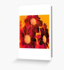 Vintage Flowers Greeting Card