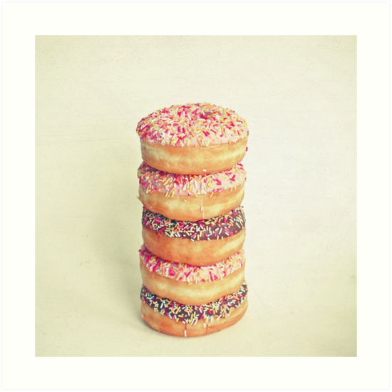 Stack of Donuts by Cassia Beck