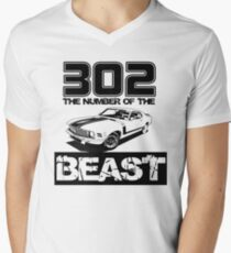 302 - The Number of the Beast Men's V-Neck T-Shirt