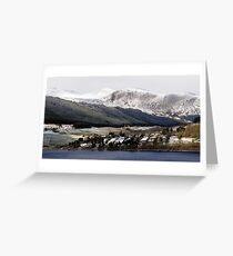 Fearnan and Glen Lyon across Loch Tay Greeting Card