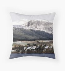 Fearnan and Glen Lyon across Loch Tay Throw Pillow