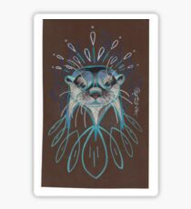 River Otter. Sticker