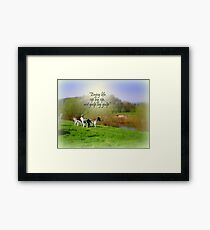 Tea  (and Beer) by the River Framed Print