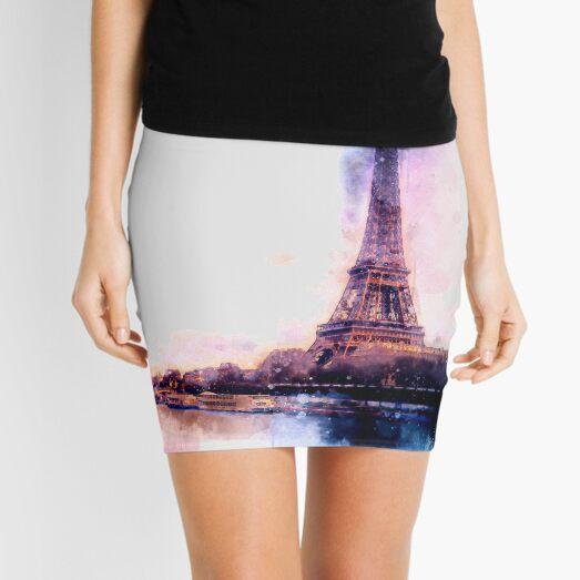 Eiffel tower Paris painting Mini Skirt