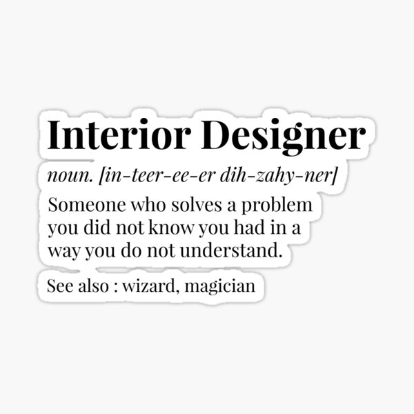 Interior Designer Definition Sticker