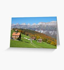 AUTUMN IN THE SWISS MOUNTAINS Greeting Card