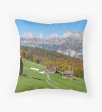 AUTUMN IN THE SWISS MOUNTAINS Throw Pillow