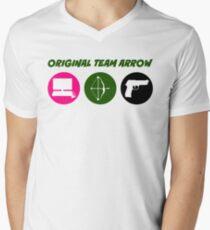 Original Team Pfeil - Bunte Symbole - Waffen T-Shirt mit V-Ausschnitt für Männer