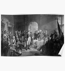 Washington Meeting His Generals Poster