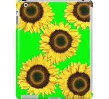 Ipad case - Sunflowers OMG Green iPad Case/Skin