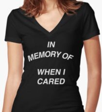 In Memory of Women's Fitted V-Neck T-Shirt