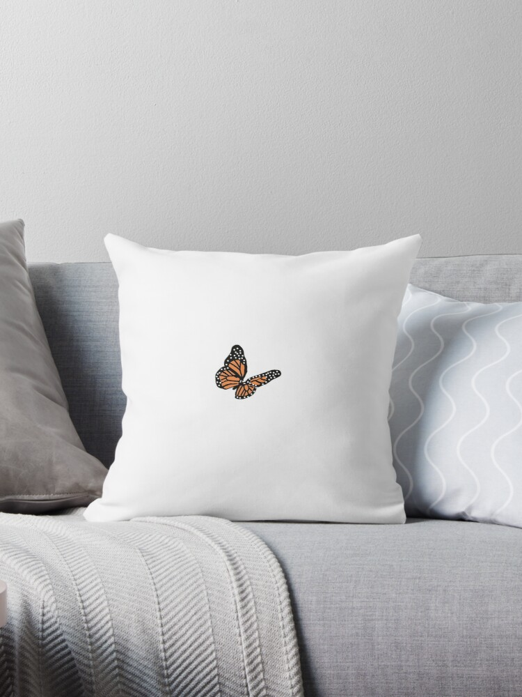 Aesthetic Butterfly Throw Pillow By Aliyamaiart Redbubble