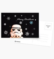 Trooper Christmas card Postcards