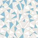 Abstract Nude Lines With Blue Blocks by ProjectM