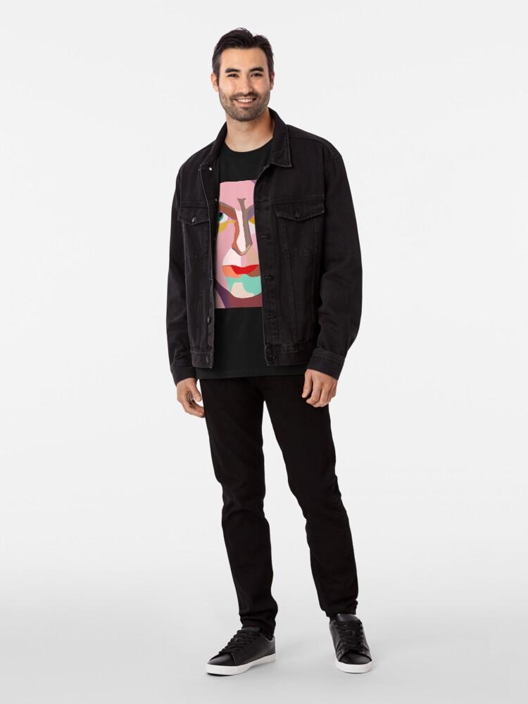 Alternate view of PINK THUMB CUBE Premium T-Shirt