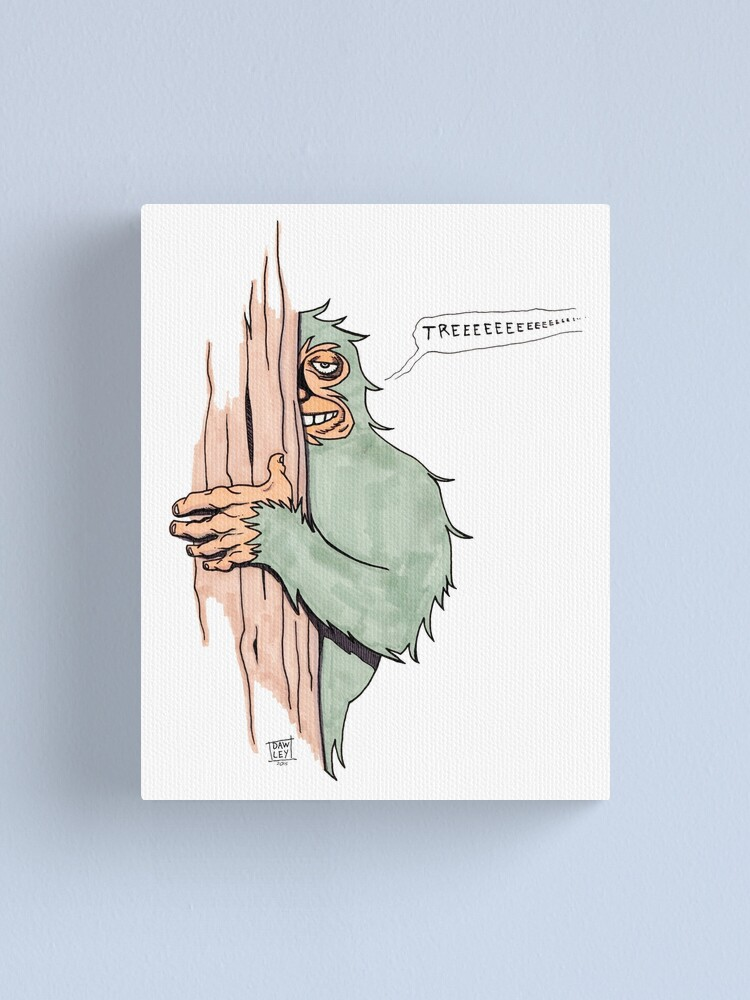 Bigfoote Canvas Print By Dawlism Redbubble