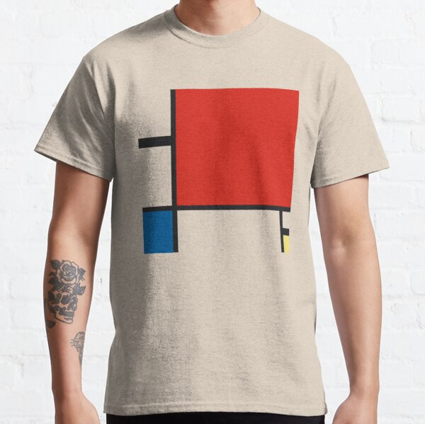 Piet Mondrian 1930 Composition II in Red, Blue, and Yellow Style, Artwork, Men, Women, Kids, Bags, Posters, Prints, Tshirts Classic T-Shirt