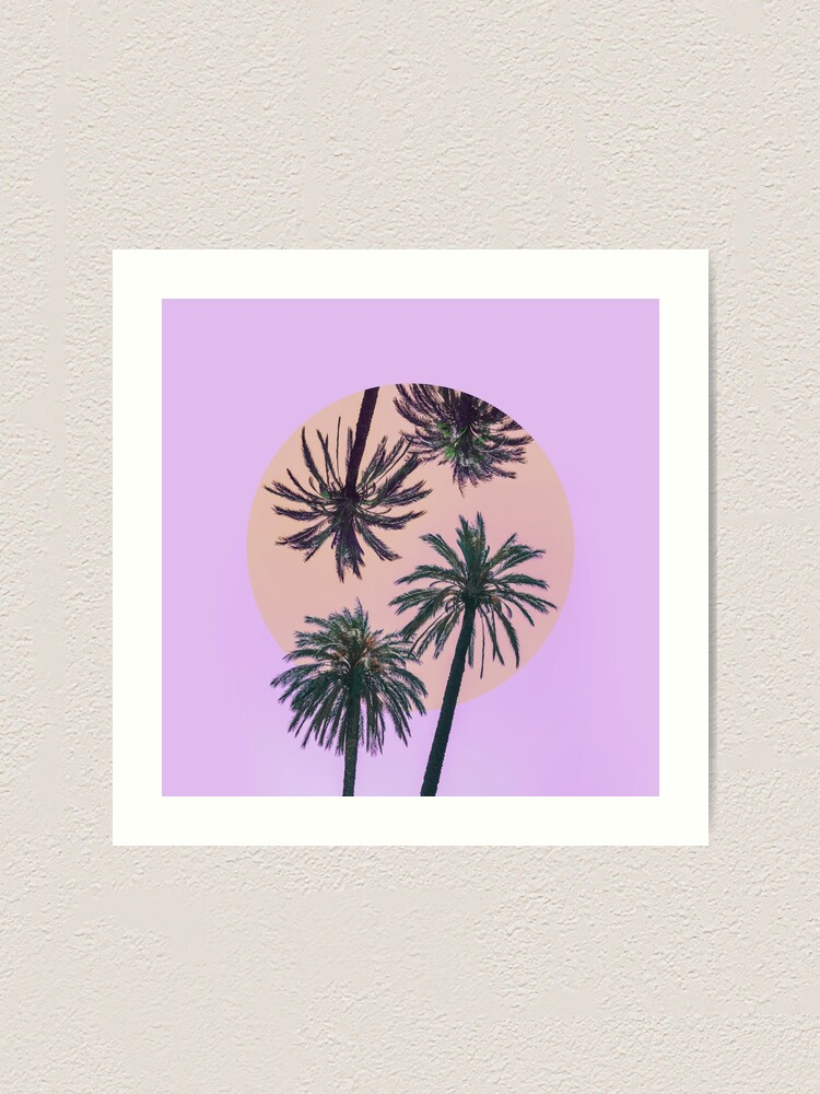 Alternate view of  Palm trees in the inversion  Art Print