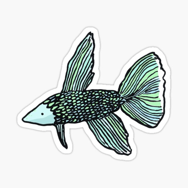 Betafish Sticker