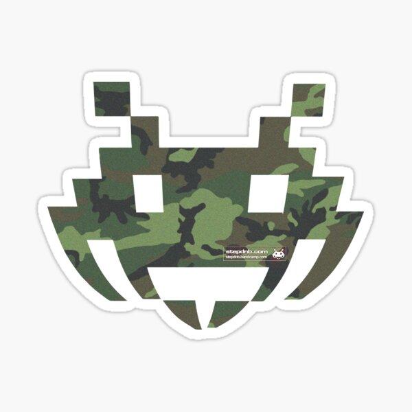 Camo Step Logo Sticker