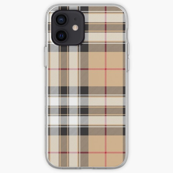 Pride of scotland gold tartan fabric texture iPhone Soft Case