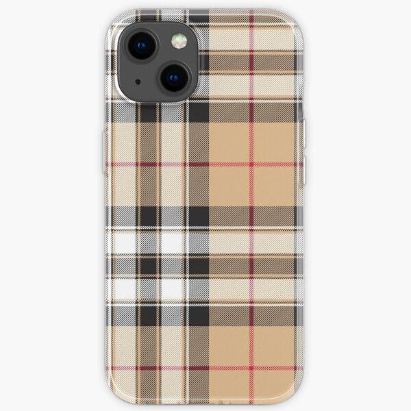 Pride of scotland gold tartan fabric texture iPhone Soft Case
