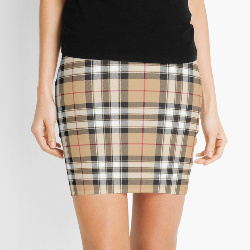 Pride of scotland gold tartan fabric texture Mini Skirt