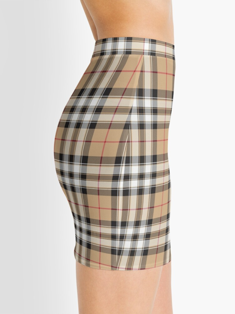Alternate view of Pride of scotland gold tartan fabric texture Mini Skirt