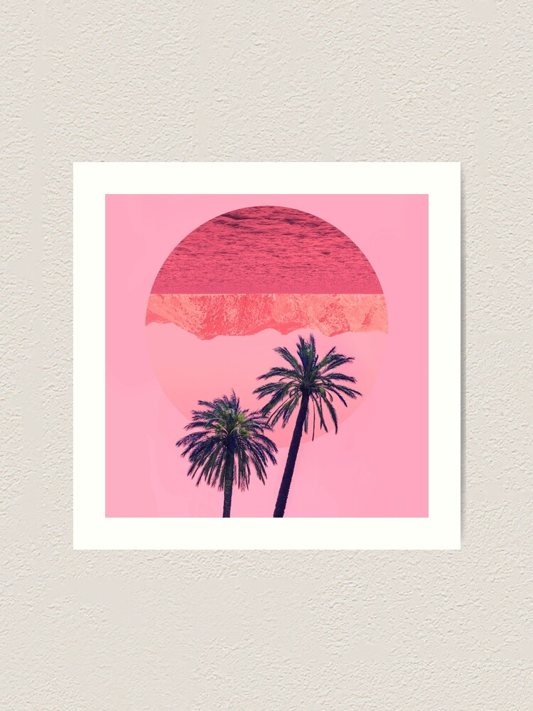 Alternate view of Palm trees and mountains Art Print