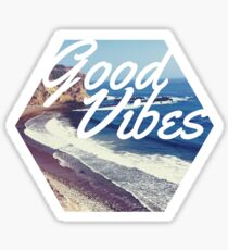 Good Vibes Beach Ocean Tumblr Trendy Hipster Print Sticker