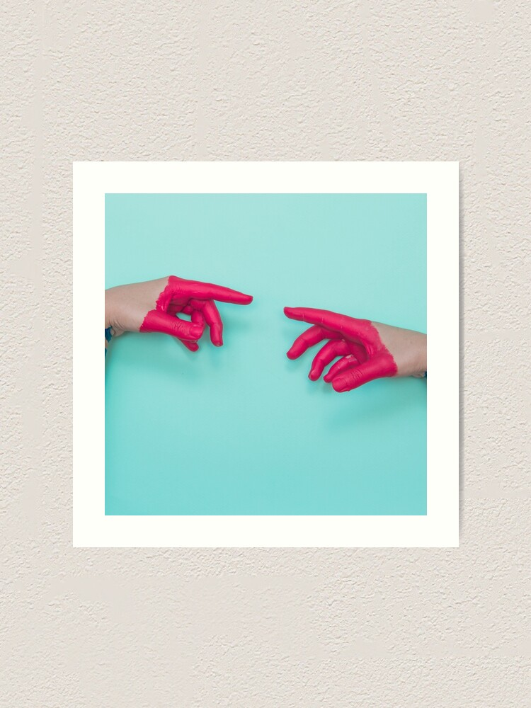 Alternate view of The touch of the hands Art Print