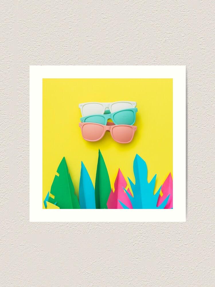 Alternate view of Summer season of sunglasses and palms Art Print