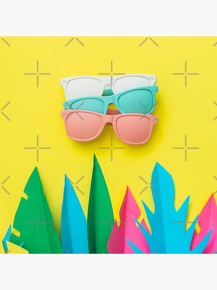 Summer season of sunglasses and palms by KatyaHavok