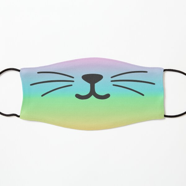 Tie Dye Cat Smile Kids Mask