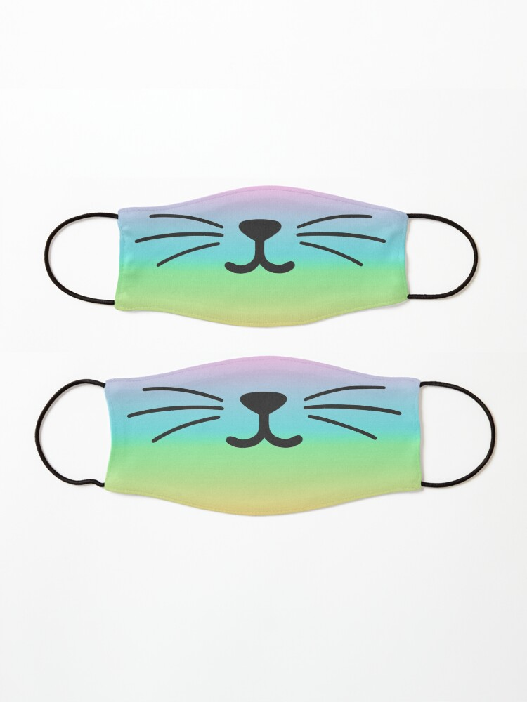 Alternate view of Tie Dye Cat Smile Mask