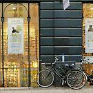 Shopping window and a shopping bike by Annbjørg  Næss