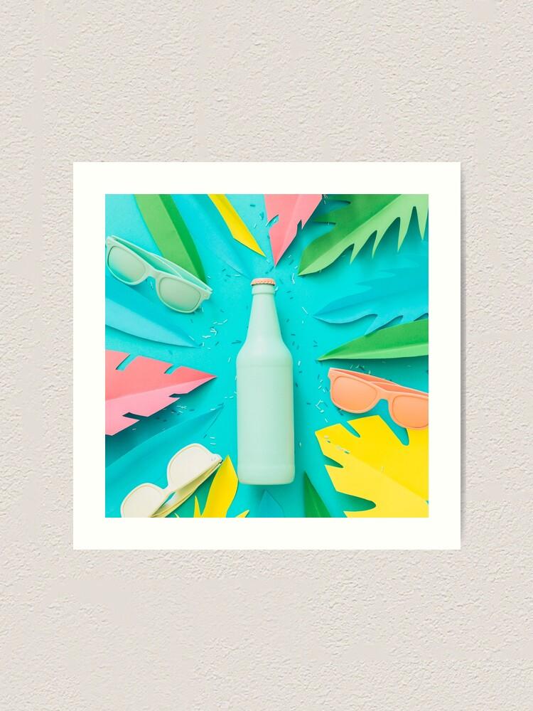 Alternate view of Blue beer bottle Art Print