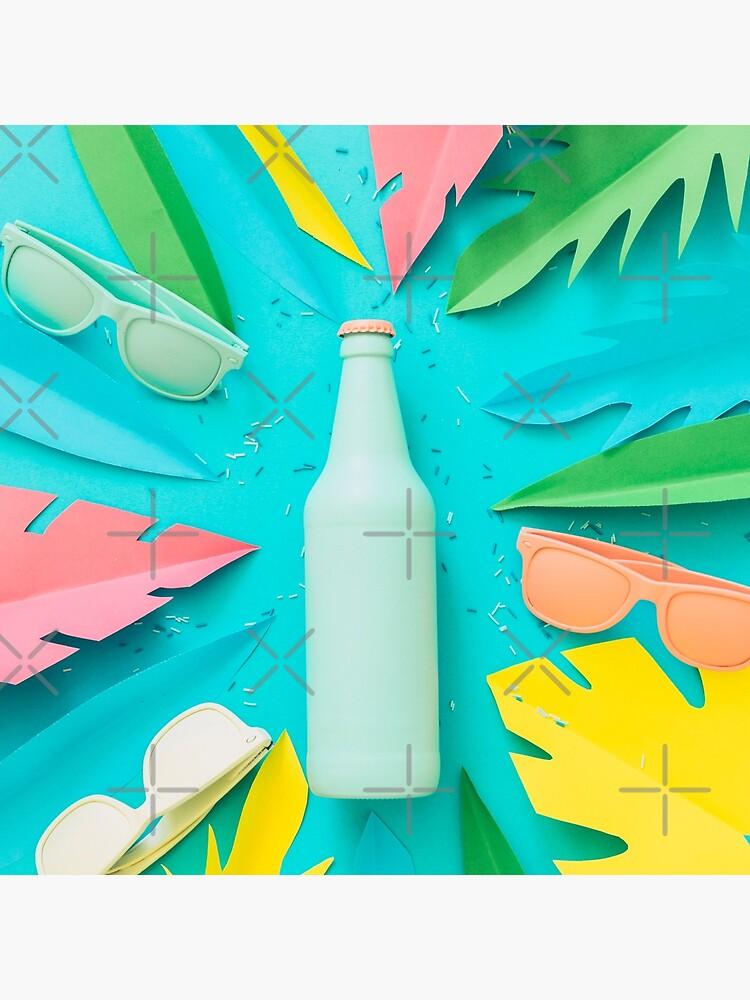 Blue beer bottle by KatyaHavok