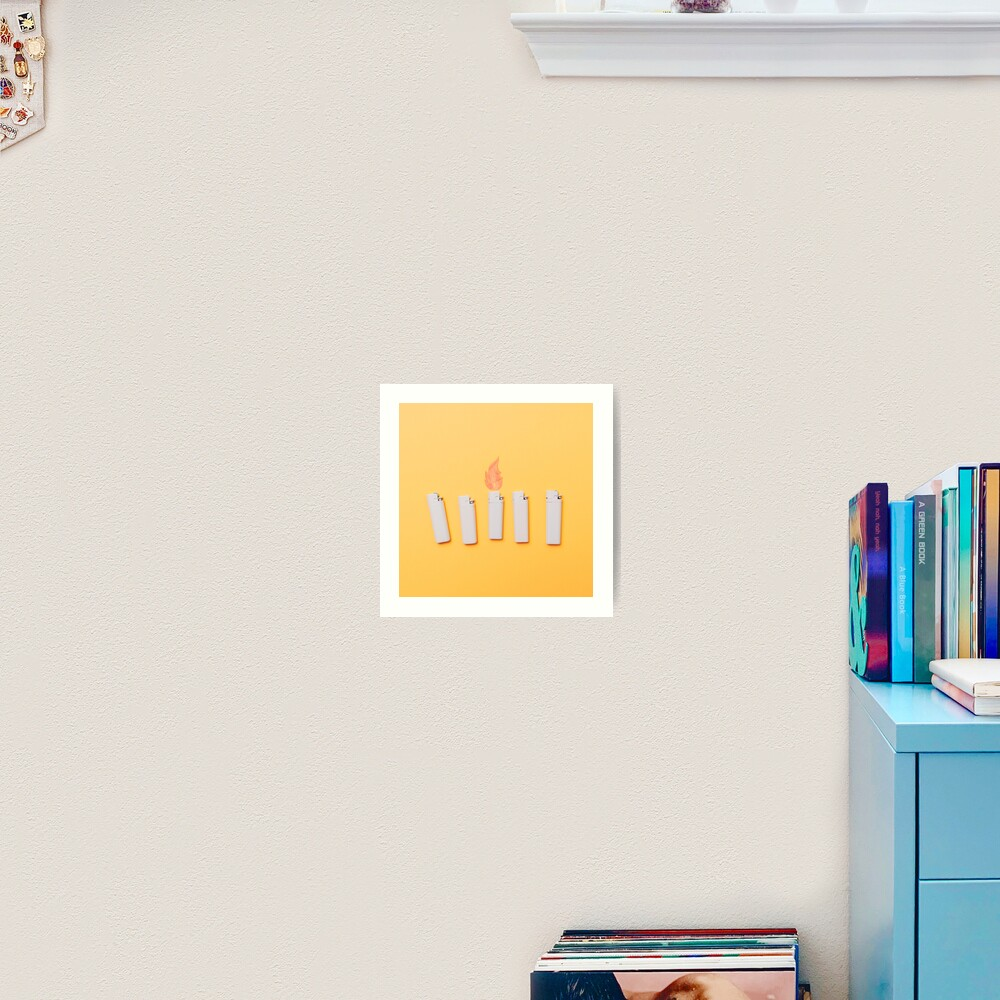 Five lighters and one fire Art Print