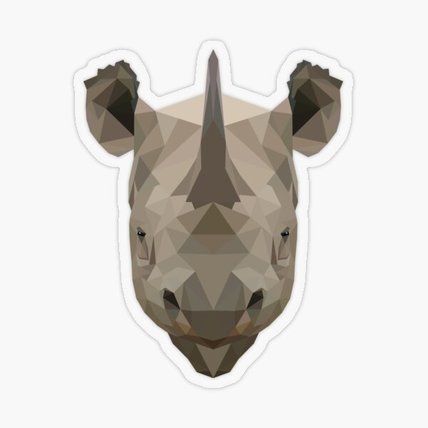 Rhino Transparent Sticker