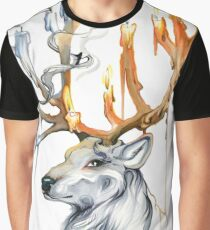 Stag Spirit Graphic T-Shirt