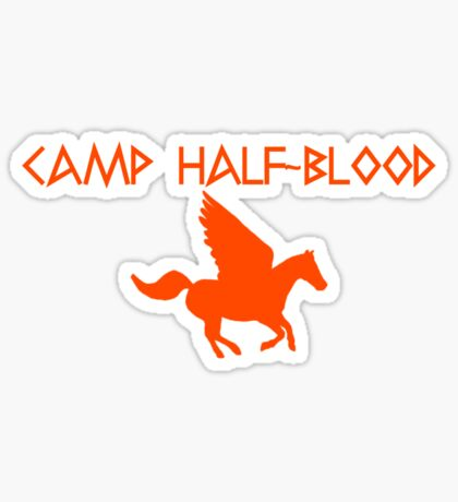 Camp Half-Blood - Orange Logo Sticker