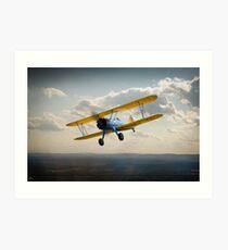 Boeing Stearman in flight Art Print