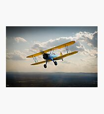 Boeing Stearman in flight Photographic Print
