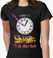 Save The Clock Tower Womens Fitted T-Shirt