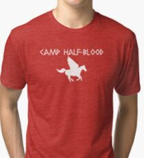 Camp Half-Blood - White Logo Tri-blend T-Shirt