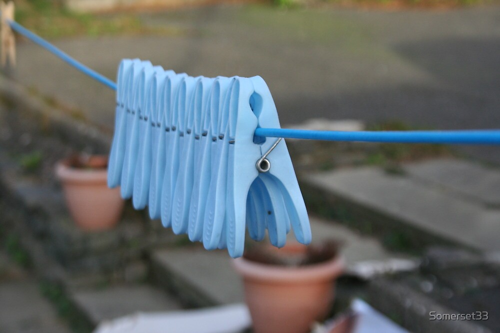 Blue Pegs in a Row by Somerset33