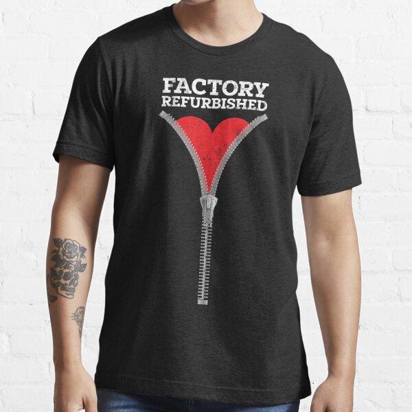 Zipper Club Member Factory Refurbished Heart Surgery Open Heart  Essential T-Shirt