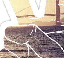 Peace Hand San Francisco Hipster Wanderlust Tumblr Print Sticker
