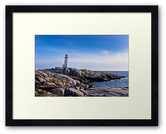 Peggy's Cove Lighthouse, Nova Scotia #2 by Charles Plant